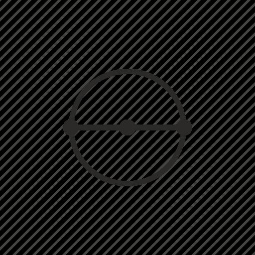 diameter, geometry, measure, size icon