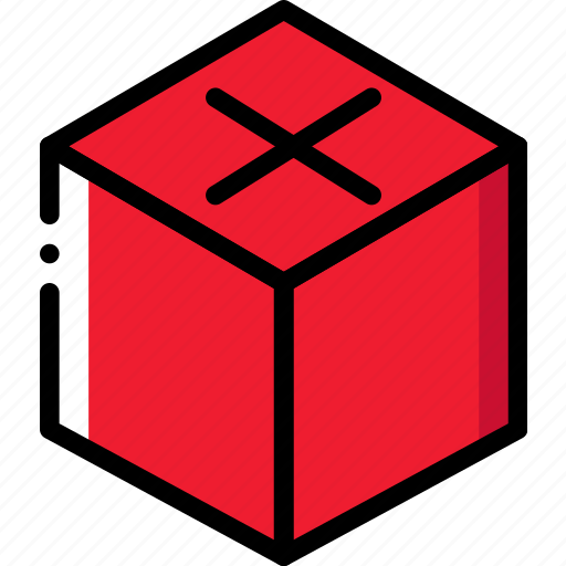 cube, drawing, form, geometry, shape icon