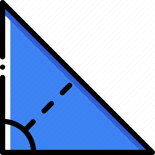 drawing, form, geometry, shape, triangle icon