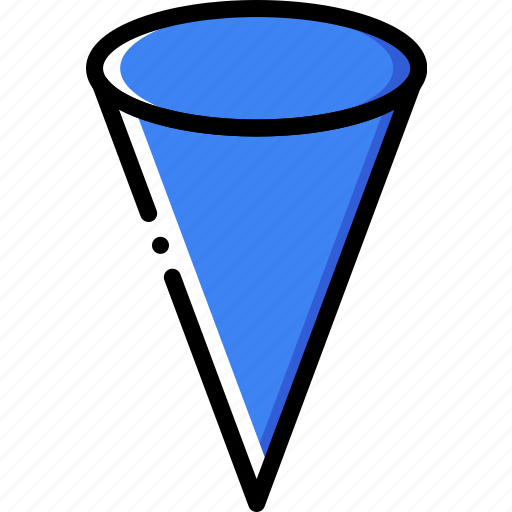 cone, drawing, form, geometry, shape icon