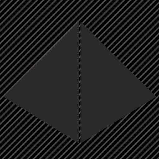 form, geometry, pyramid icon