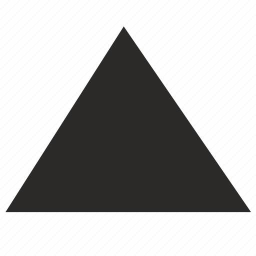 form, geometry, triangle icon