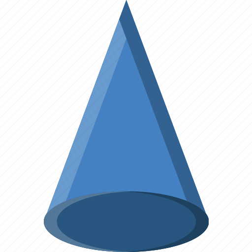 Cone, drawing, form, geometry, shape icon - Download on Iconfinder