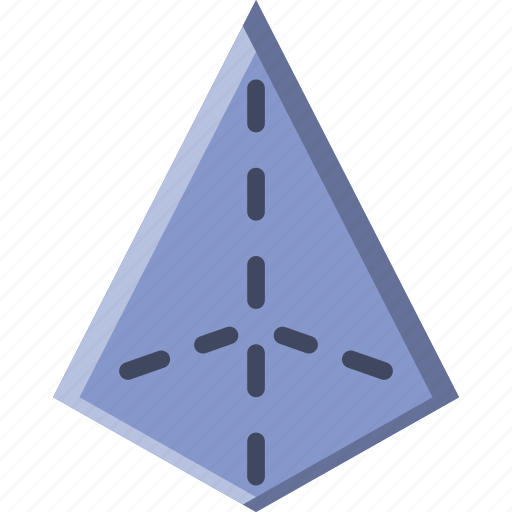 Drawing, form, geometry, pyramid, shape icon - Download on Iconfinder