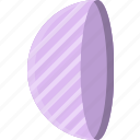 drawing, form, geometry, half, shape, side, sphere icon