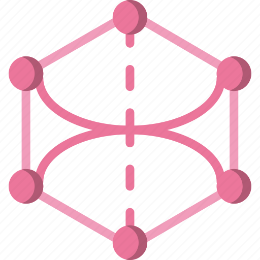 angle, drawing, form, geometry, hexagone, shape icon