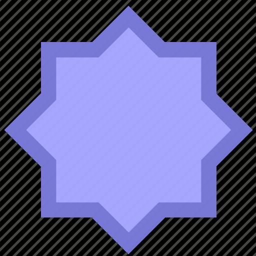 complex, david, form, geometry, polygon, star icon