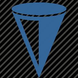 cone, geometry, taper, volume icon