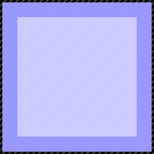 border, geometry, shape, square icon