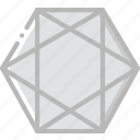 drawing, form, geometry, hexagone, shape icon