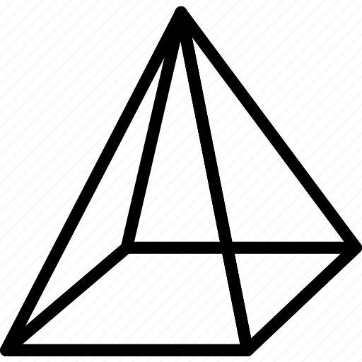 drawing  form  geometry  pyramid  shape icon