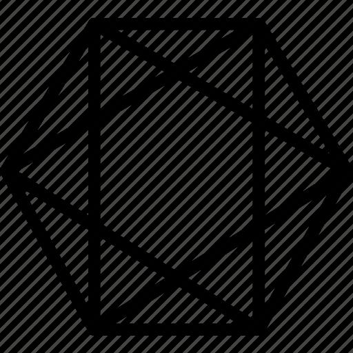 drawing, form, geometry, hexagone, shape icon
