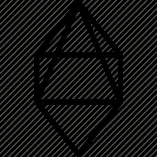 drawing, form, geometric, geometry, shape icon