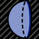 drawing, form, geometry, half, shape, sphere icon