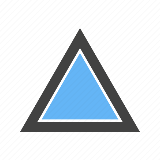 edges, three, triangle, with icon