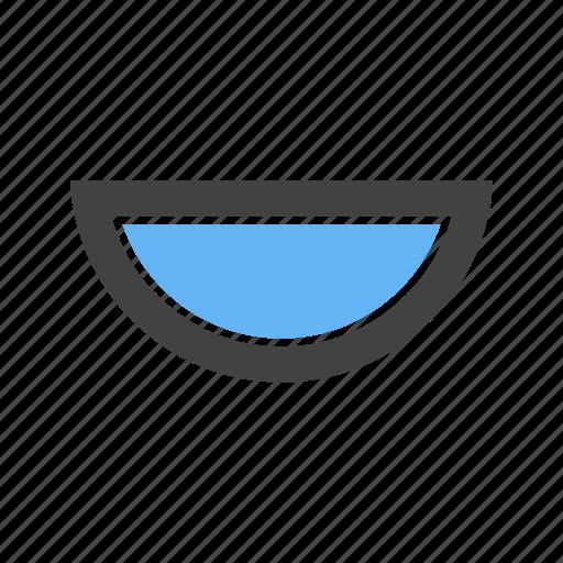 Circle, half, moon, semi icon - Download on Iconfinder