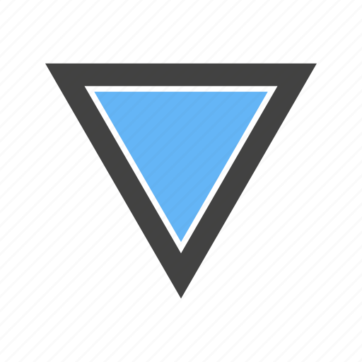 Edges, inverted, three, triangle, with icon - Download on Iconfinder