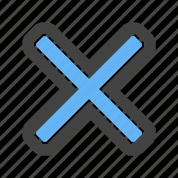cross, delete, remove, shape icon
