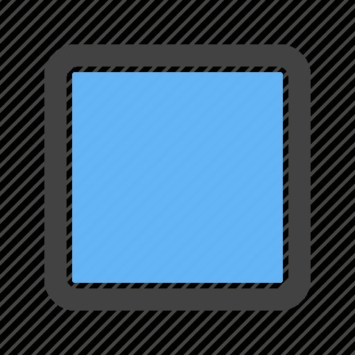 corner, round, square, with icon