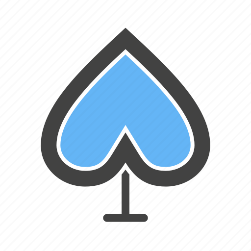 heart, leaves, shaped, spade icon