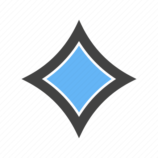 Corners, diamond, four, with icon - Download on Iconfinder
