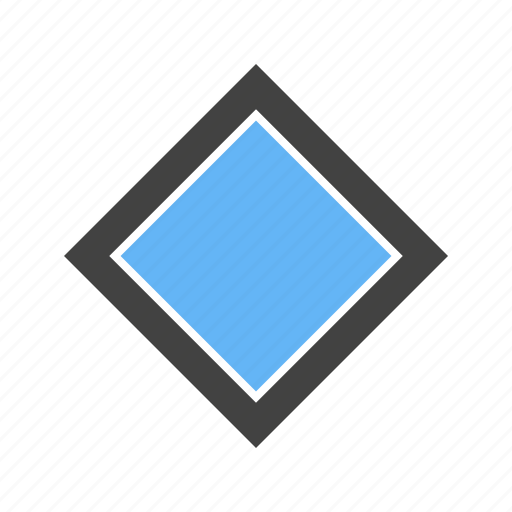 Corners, diamond, four, shape, with icon - Download on Iconfinder