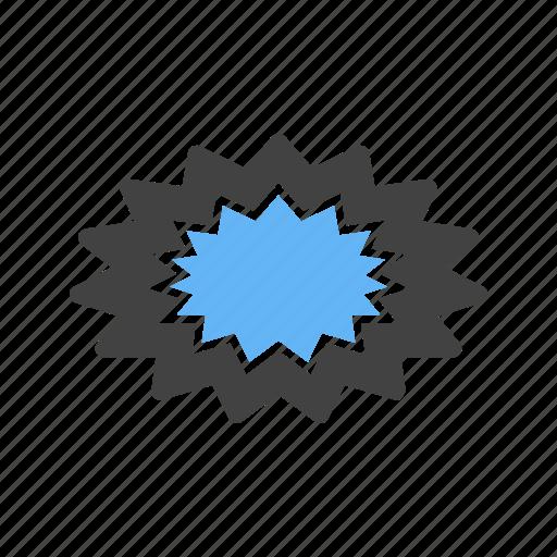 blast, danger, explosion, spark icon