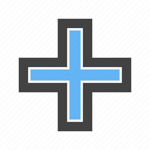aid, cross, first, plus, shape icon