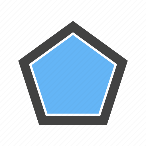 Corners, five, pentagon, with icon - Download on Iconfinder