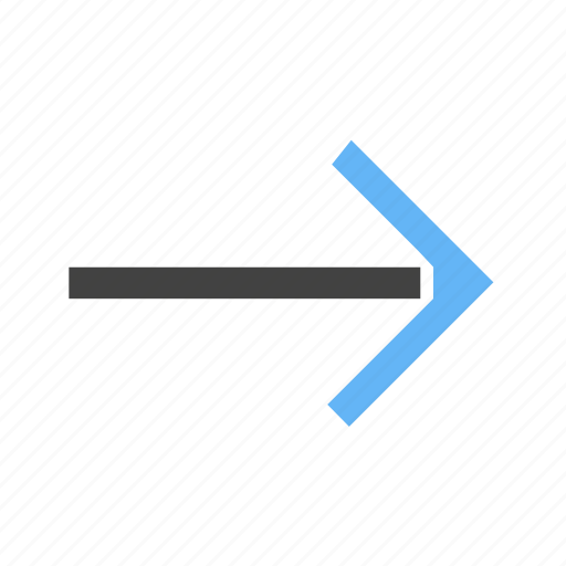 arrow, pointing, right, side, to icon
