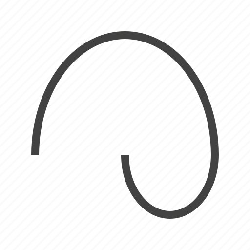 curved, drawing, line, shape icon