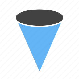 cone, end, one, pointed, with icon