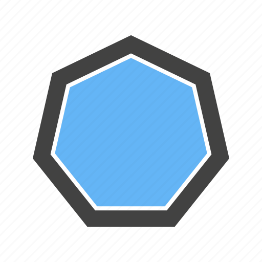 corners, octagon, seven, with icon