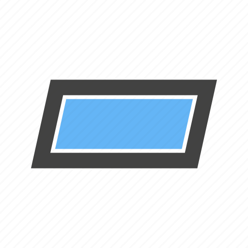 corners, four, paralellogram, rectangle, tilt, with icon