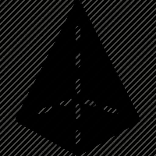 drawing, form, geometry, pyramid, shape icon