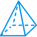drawing, form, geometry, pyramid, shape icon