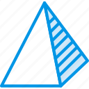drawing, form, geometry, pyramid, shape, side icon