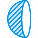drawing, form, geometry, half, shape, side, sphere icon