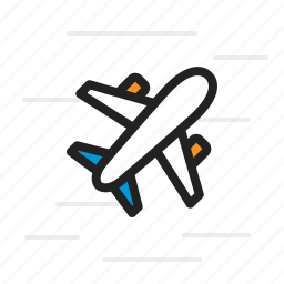 airplane, flight, plane, shipping, transport, transportation icon