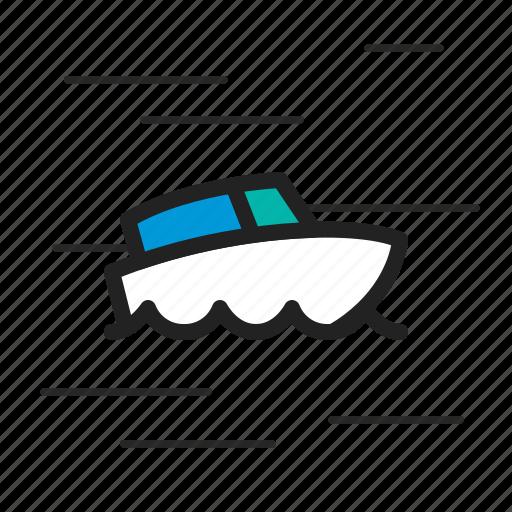 boat, cruise, fish, marine, ocean, sail icon