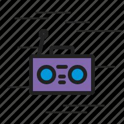 boombox, music, sound, speaker, volume icon