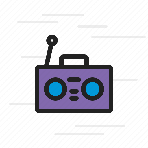 Boombox, music, sound, volume, speaker icon