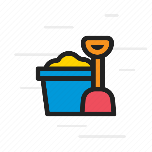 and, bucket, garden, gardening, nature, shovel, spade icon