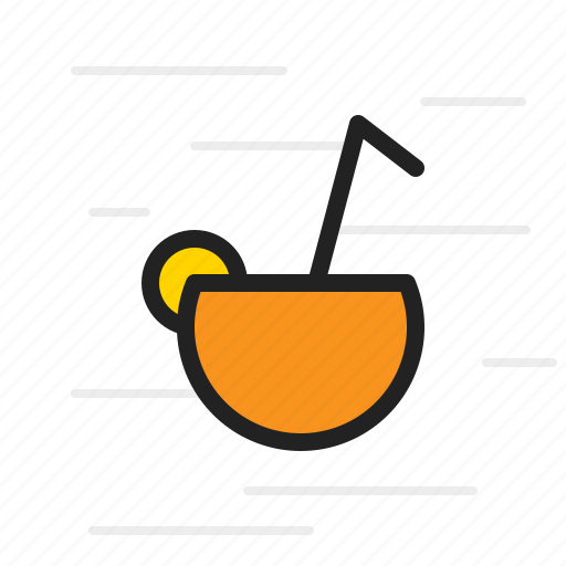 beverage, cocktail, coconut, cup, drink icon