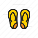 flip, flops, sandals, summer, vacation icon