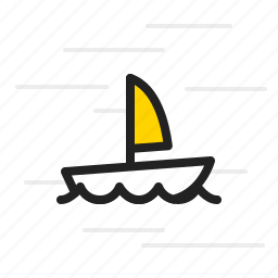 boat, nautical, sailboat, sailing, sea, yacht icon