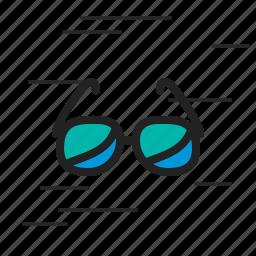 eyeglasses, glasses, glassess, spectacles, sun, sunglasses icon