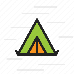 camping, environment, nature, outdoor, survival, tent icon