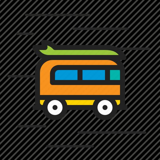 bus, delivery, school, student, transportation, van icon