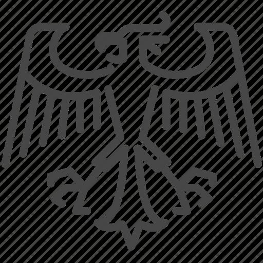 bird, eagle, emblem, german, germany, hawk, logo icon